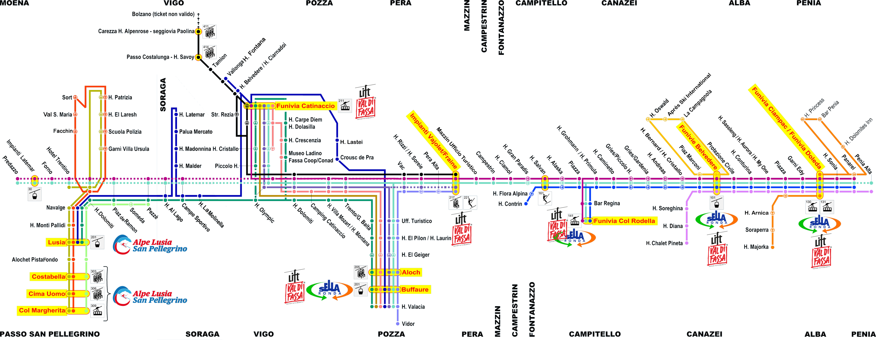 Mappa Skibus